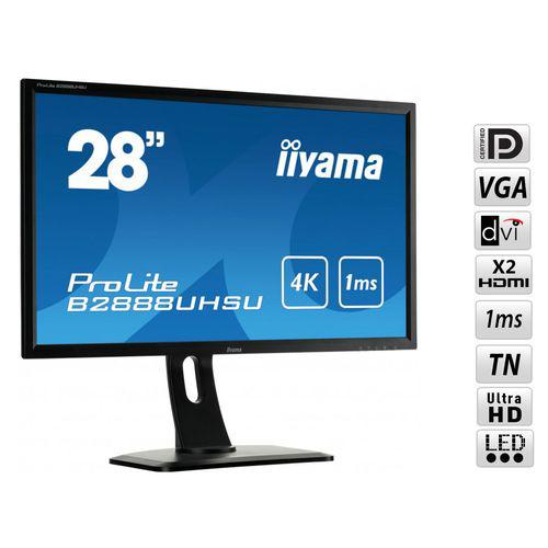 Ecran PC 28'' Iiyama LED Prolite B2888UHSU-B1 - 4K