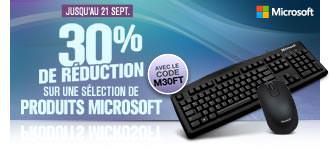 -30% sur une sélection d'accessoires Microsoft (souris, claviers...)
