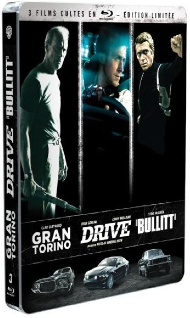 Coffret Blu-ray Gran Torino + Drive + Bullitt - Édition Limitée boîtier SteelBook