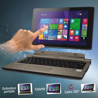 "PC portable/tablette 11,6"" Medion 500GO, 4Go ram, windows 8"