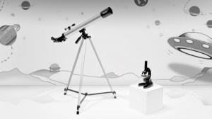 Duo télescope + microscope pour enfant Vivitar