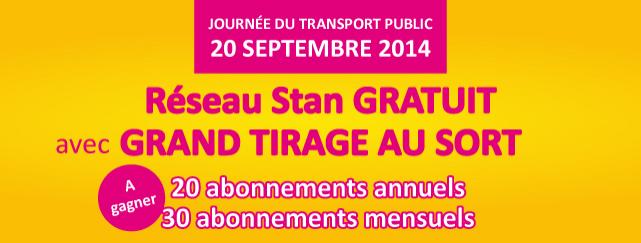 Bus et tramways du réseau Stan gratuit