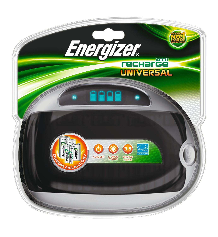 Chargeur universel Energizer avec témoins de charge