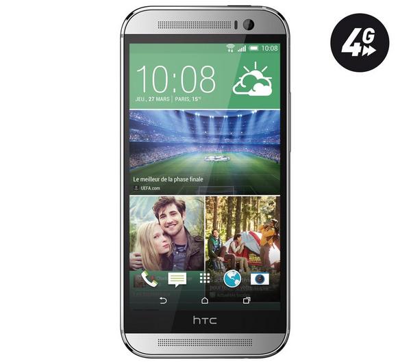 Smartphone HTC One M8 Silver 16Go (Avec ODR de 60€)