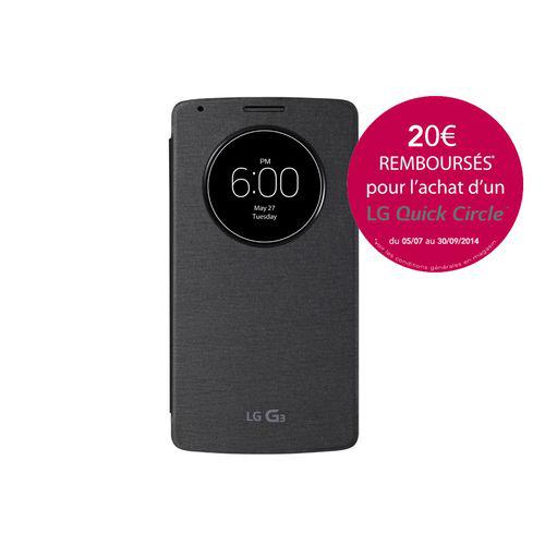 Etui LG QuickCircle pour smartphone LG G3 (Avec ODR de 20€)