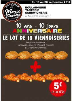 10 ans de la boulangerie Marie Blachère - Lot de 10 viennoiseries