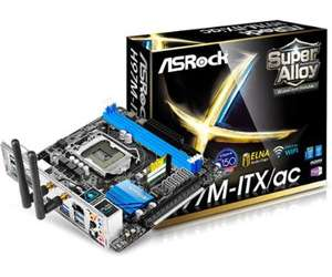Carte mère ASRock H97M-ITX/ac Motherboard - Mini-ITX, Intel H97, Socket 1150, WiFi