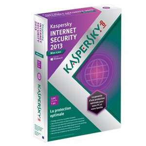 Licence Kaspersky internet security 2013 3 postes / 1 an