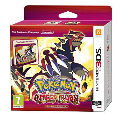 Pokémon Omega Rubis ou Saphir 3DS Collector Steelbook + Porté Clé (+ 10€ de Chèque cadeau)
