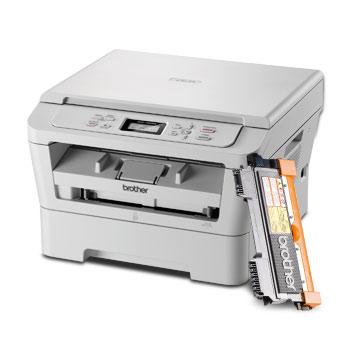 Imprimante laser multifonction monochrome 3 en 1 Brother DCP-7055 + toner TN-2010 (30€ ODR)