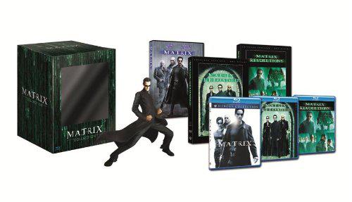Coffret Collector Edition Limitée 15 ans Matrix - Trilogie DVD + Blu-Ray + Statue Neo