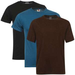Lot de 3 T-shirts Fruit of the Loom (Taille M uniquement)