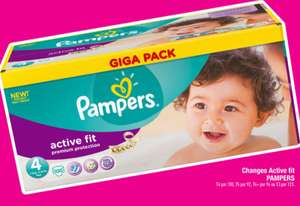 Couches Pampers Active Fit Giga Pack (60% sur la carte Carrefour)