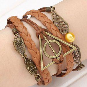 Sélection de bijoux en promotion - Ex: Bracelet Harry Potter avec pendentifs + Tatouage Mangemort offert