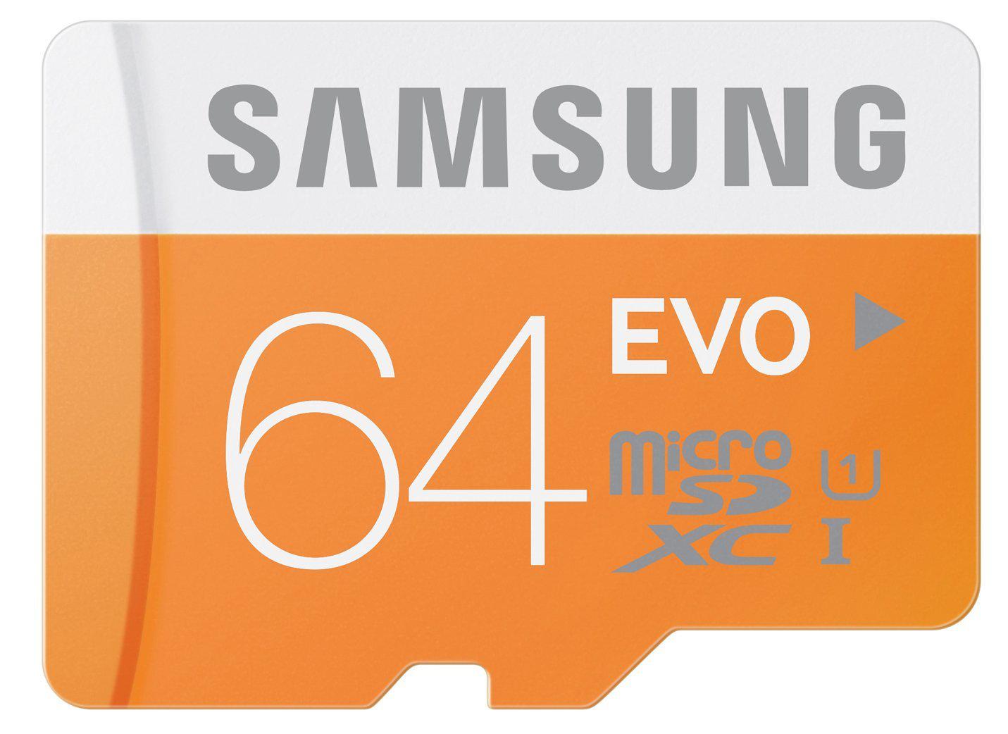 Carte mémoire MicroSDXC Samsung EVO 64Go Class 10 (sans adaptateur)