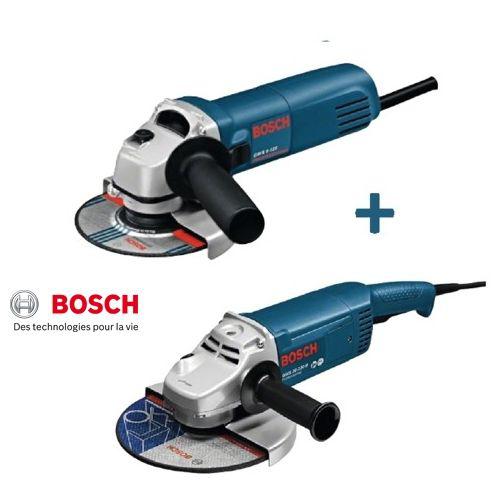 Lot de 2 meuleuses Bosch Gws230 230 mm 2000 W + Gws660 Ø 125 mm 660 W