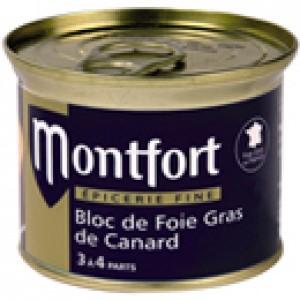 Bloc de Foie Gras de Canard Montfort 140g (3 à 4 personnes)