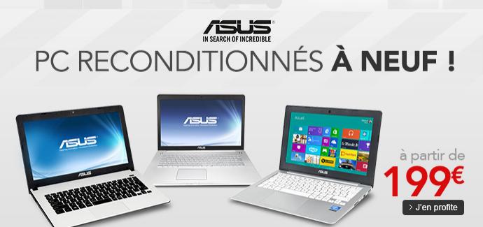 """PC portables Asus Reconditionnés entre 11"""" et 13"""""""