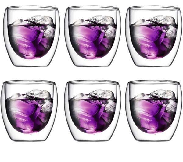 Lot de 6 verres Bodum Pavina 25cl / livraison gratuite