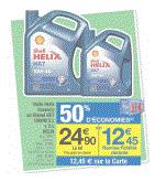 Lot de 2 bouteilles d'huile Helix HX7 10W40 (5L + 2L) diesel ou essence (50% sur la carte fidélité)
