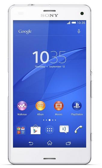 """[Précommande] Smartphone 4.6"""" Sony Xperia Z3 Compact Blanc (+ Bon d'achat Amazon.co.uk de 10£)"""