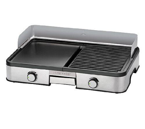 Plancha + gril de Riviera & Bar QC453A, en fonte aluminium gris