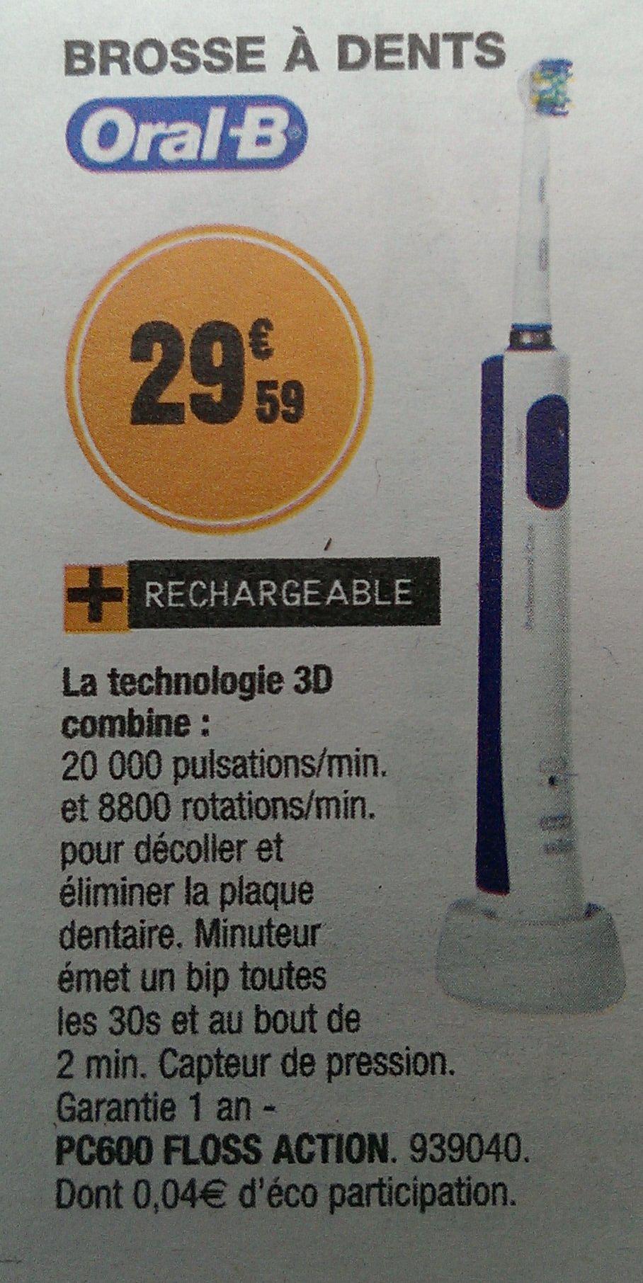 Brosse à dent électrique Oral-B PC600 Floss Action
