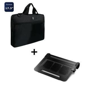 "Sacoche 17"" Liberty Port + Refroidisseur Cooler Master NotePal U3 Plus"