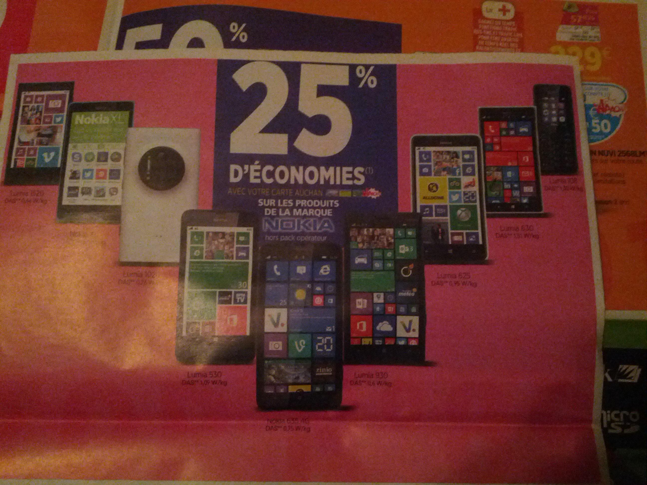 -25% sur tous les produits Nokia - Ex: Smartphone Nokia Lumia 930