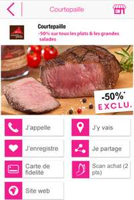 -50% sur les plats et les grandes salades avec l'appli Le Pass chez Courtepaille