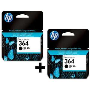 Lot de 2 cartouches HP 364 - Noir 250 pages