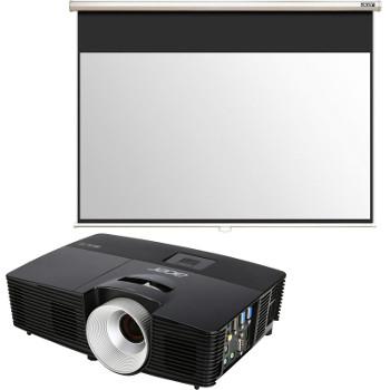 Vidéoprojecteur Acer X1383 DLP WGA 3100 Lumens + Ecran de projection Acer Ecran Screen M90 229 cm