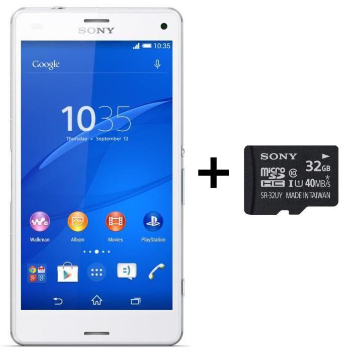 [Précommande] Smartphone Sony Xperia Z3 compact blanc + carte MicroSD 32G
