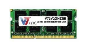 Mémoire DDR3 SO-DIMM V7 2 Go - 1333 MHz PC3-10600