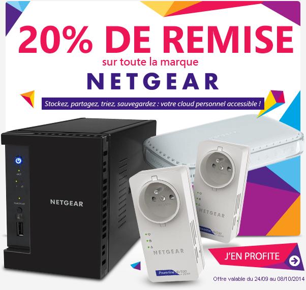 20% de remise sur toute la marque Netgear