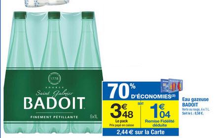 Pack de 6 bouteilles de Badoit