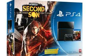 Pack console PS4 + FIFA 15 + Infamous : second son + bonnet