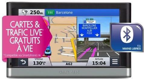 GPS Garmin Nuvi 2568 LMT (50% crédité sur la carte)