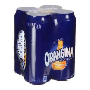 Lot de 4 canettes Orangina 50 cl