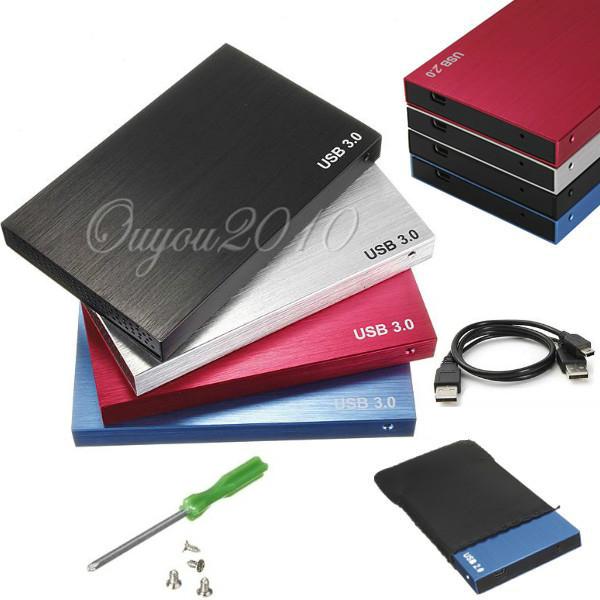 """Boitier Externe 2.5"""" en aluminium USB 2.0 (SSD, HDD...) - 4 couleurs au choix"""