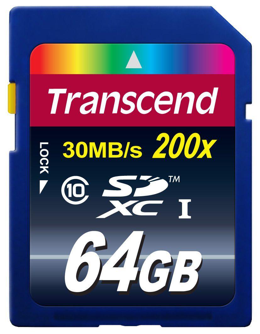 Carte mémoire SDXC Transcend 64 Go - Classe 10