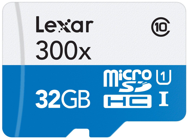 Carte mémoire microSDHC Lexar - Classe 10 - 32 Go + Adaptateur SD