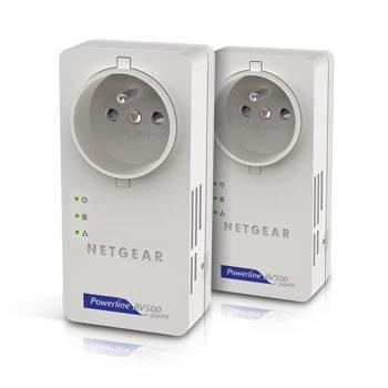Pack de 2 CPL 500 MBps Netgear XAVB5601 avec prise femelle