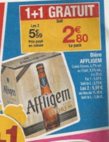 Lot de 2 packs de bière Affligem cuvée Florem