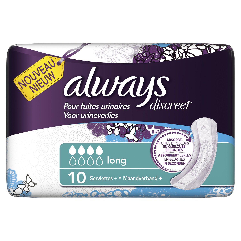 50% de remise sur les serviettes Always Discreet