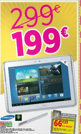 """Tablette Samsung Galaxy Note 10.1"""" GT-N8010ZWAX 16 Go"""