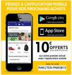 10€ offert pour votre premier achat avec l'application dès 60€ d'achat