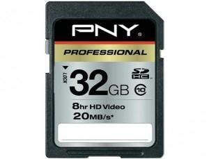 Carte Mémoire PNY Professional SDHC Classe 10 32Go avec code promo