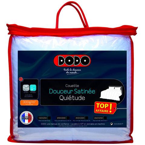 Couette Dodo Quiétude douceur satinée pour lit double 300g/m²