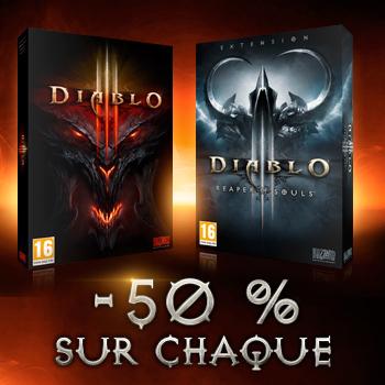 Jeu Diablo 3 ou Extension Diablo 3 Reapers of souls (dématérialisé) sur PC/MAC